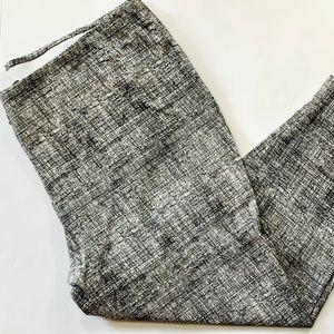 Dalia Casual Pants Pull On Black White 22W